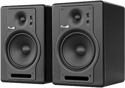 Fluid Audio F5 2-Way 5 Inch Active Studio Monitor, Black, Pair