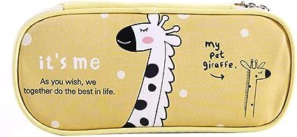 Gysad Estuche Patrón animal de dibujos animados Pencil case Con cremallera Estuches escolares Almacenamiento conveniente Papeleria infantil Monedero pequeño: Amazon.es: Oficina y papelería