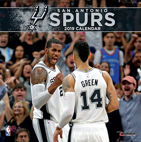 (Turner 1 Sport San Antonio Spurs 2019 12X12 Team Wall Calendar Office Wall Calendar (19998011895))
