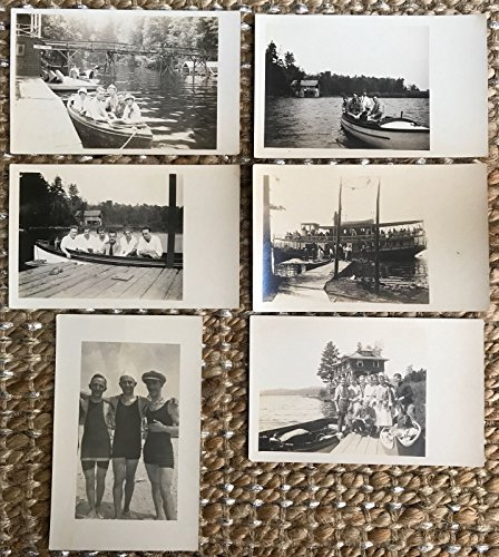 Six Real Photo Postcards People  Boats  River In Clearwater  Minnesota 112616