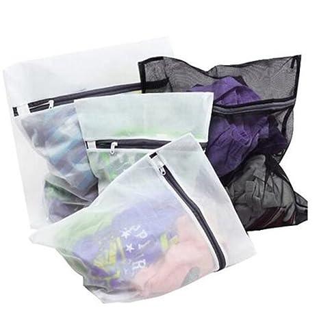 Lot 4PCS Bolsa de Malla Para Lavado y Protección de Ropa Con Zip Cremallera – Para Ropa Delicada Lavadora. 4PCS Bolsas Multi-Pack