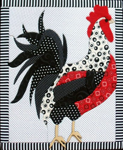 Artsi2 A2ROOST Rooster Wall Hanging Kit (Free Quilt Wall Patterns Hangings)