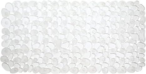 Clear PVC Non Slip Bathmat In A Nautical Pebble Design