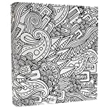 Aurora Illustrator Adult Coloring 3-Ring Binder, 1-Inch, 11'' x 8.5'', Abstract Design (AUA2-16150)