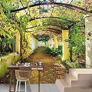 LWCX Muros Personalizados Paisaje Jardín Foto 3D Papel Pintado Grande Sala De Estar Hermoso Fondo 352X250CM: Amazon.es: Bricolaje y herramientas