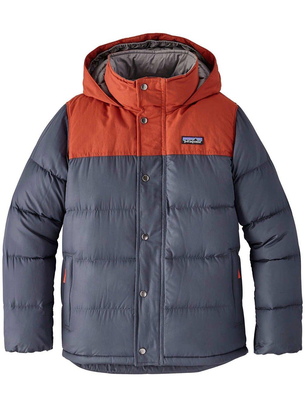 Patagonia Boys' Bivy Down Hooded Coat (L, Smolder Blue)