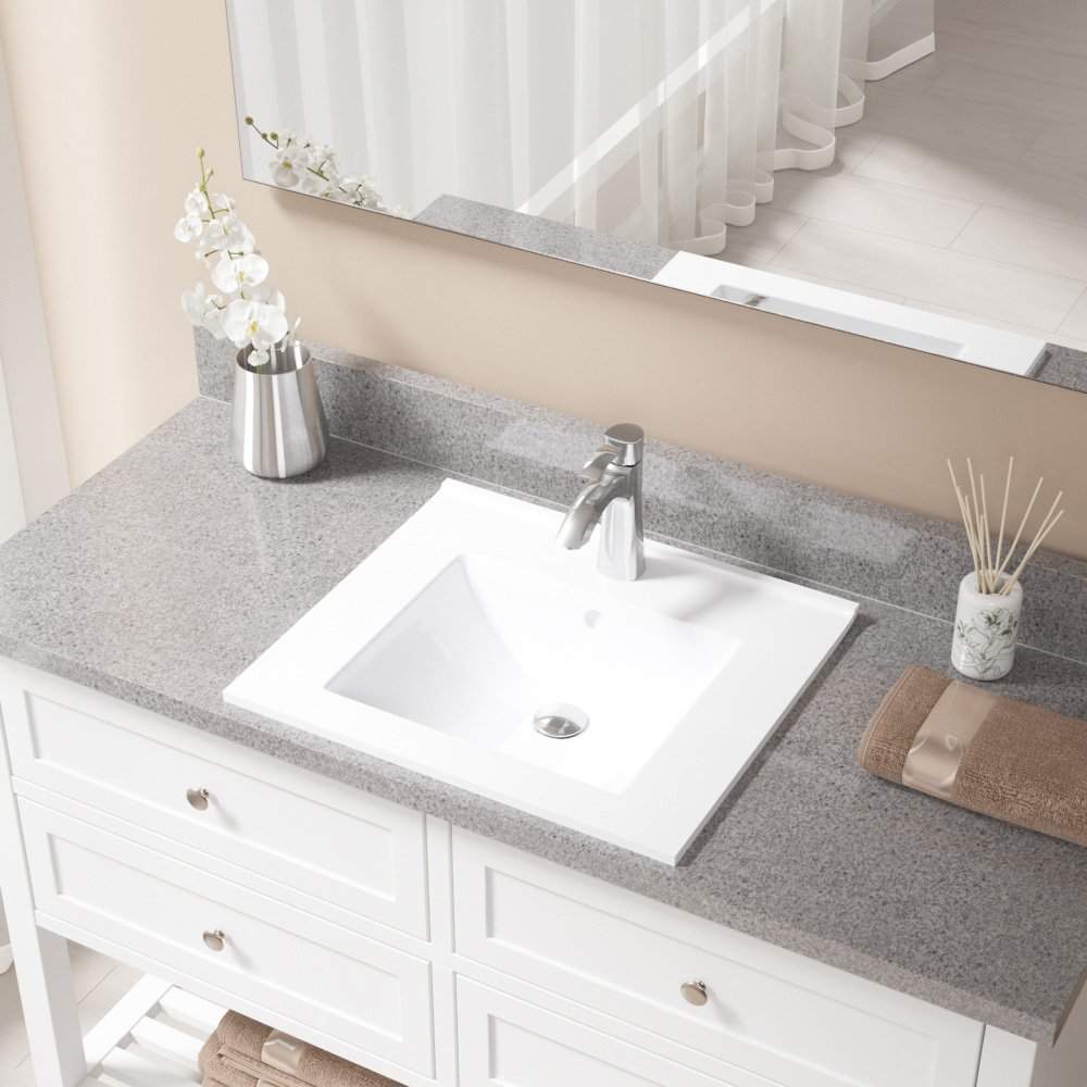 V310-White Porcelain Vessel Sink Antique Bronze Ensemble with 732 Vessel Faucet Bundle - 3 Items: Sink, Faucet, and Pop Up Drain MR Direct V310-W-732-ABR