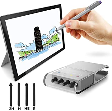 Replacement Pen Tip Kit 2H H HB B for Microsoft Surface Pro 4//5 Stylus Touch Pen