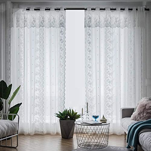 TIYANA 2 Romantic Lace Sheer Curtains