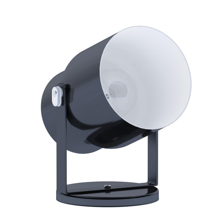 Dainolite Lighting DXL15-BK Wall/Ceiling Spot or Floor Pod, Gloss Black Finish