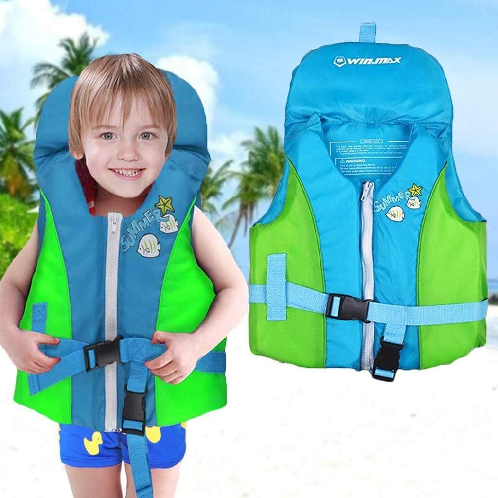 OldPAPA Giubbotto da Nuoto Bambini Gilet da Nuoto Protezione per la Testa Disegno Assistenza al Nuoto Giubbotto Galleggiante per Ragazzi Ragazze 20-75 lbs