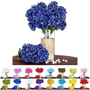 Efavormart 56 Large Chrysanthemum Mums Balls Artificial Wedding Event Flowers - 4 Bushes 13