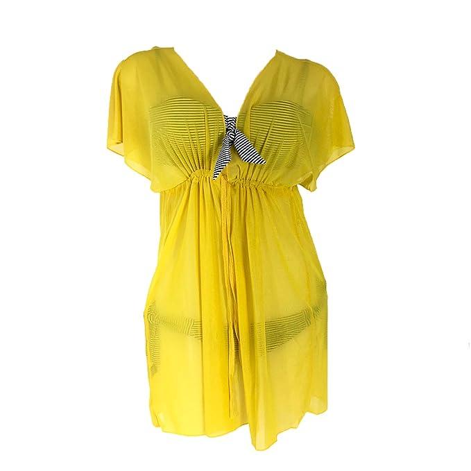 Amazon.com: Blue Island - Vestido de playa de gasa para ...