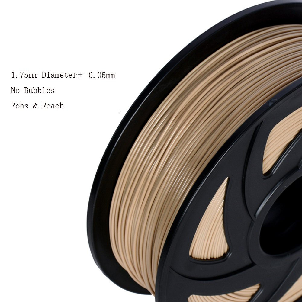 // LEE FUNG 1.75mm ABS 3D Printing Filament Dimensional Accuracy Wooden 0.05 mm 2.2 LB Spool DIY Material Tools