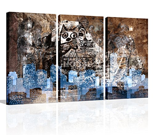 Canvas Prints Abstract Graffiti Wall Art Modern Oil Paintings Pictures Artwork for Decor /Home Decoration size:18x28inch 3pcs by Tucai Decor