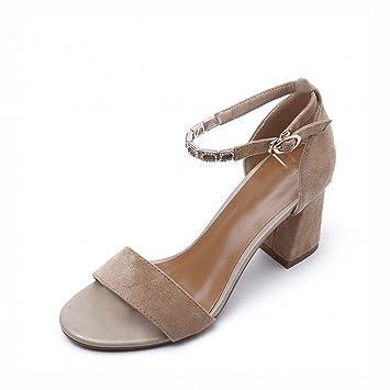 Sandalia 2018 Gruesa Femenina Dhg De Zapatos Con Moda Una Tacón Alto 34ARq5jL