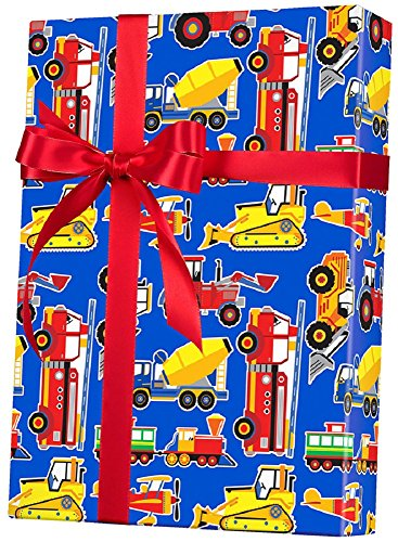 Toy Trucks Big Rig Gift Wrap Flat Sheet - 24