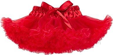 Liyukee - Sólido Bebé Tutú Faldas Niñas Vestido Burbuja Princesa ...