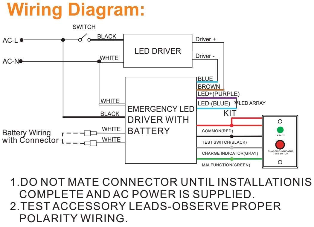 Led Emergency Driver 25w Backup Power 100 277v 90 Minutes Array Wiring Diagram For External Panel Troffer High Bay Light