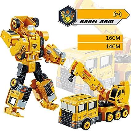 Amazon com: KAIYU Transformer Robot Car Metal Alloy