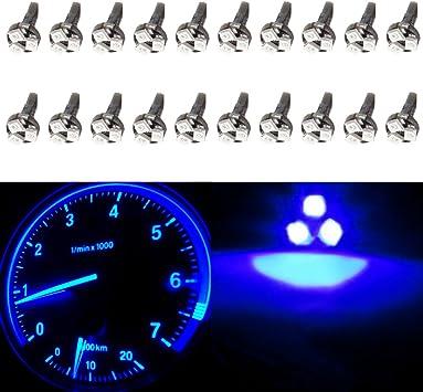 10X T5 3SMD Blue Dash Gauge Cluster Side LED Bulb Light 73 74 70 37 17 18