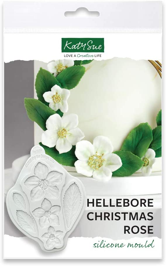 Hellebore Christmas Rose Silicone Mold for Cake Decorating, Crafts, Cupcakes, Sugarcraft, Candies, Cards and Clay, Food Safe Approved, Made in The UK