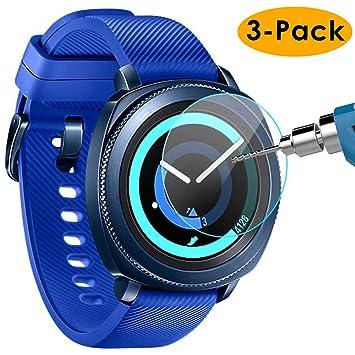 Compatible avec Samsung Gear S2 Protecteur décran, Premium (Pack de 3)