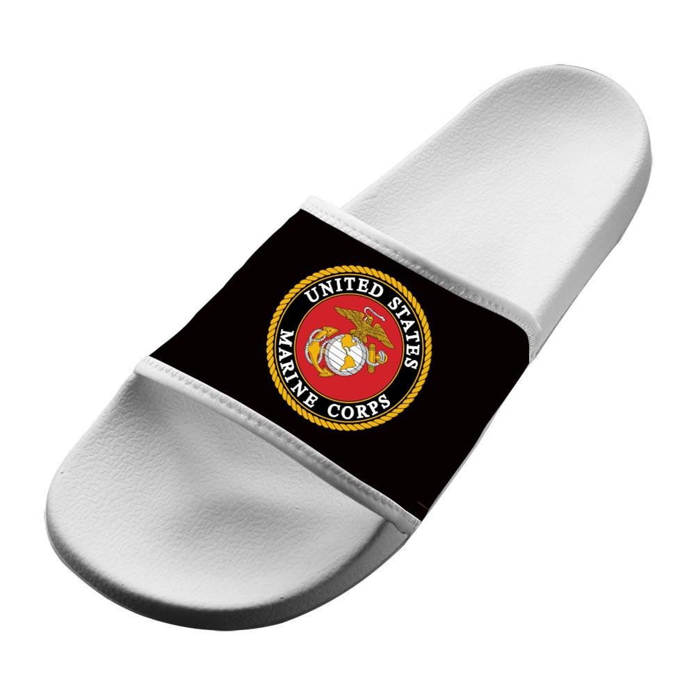 Shoes Unisex Non-Slip United States Marine Corps Soft Slide Sandals Indoor /& Outdoor Slippers