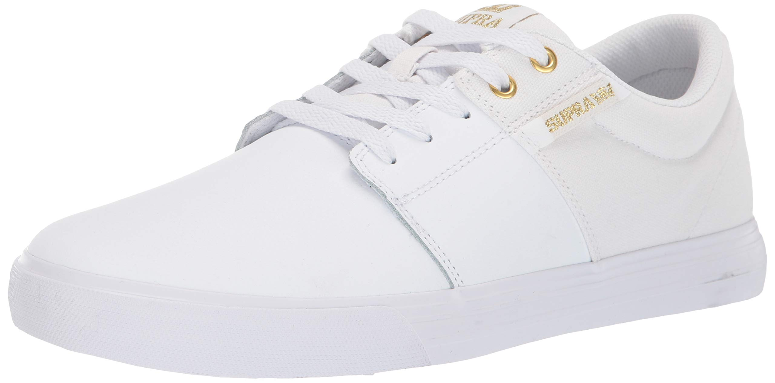Supra Unisex Adults' Stacks Vulc Ii Low-Top Sneakers, Gold-White 122 4 UK