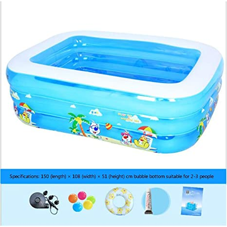 L&WB Piscina Inflable/Piscina De Vadeo, Piscina Easy Set, Inflable ...