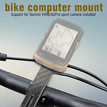 Black ABS Easy to Install Integrated Handlebar Holder with 2 Screws for Garmin Edge Computer Dilwe Computer Bike Mount