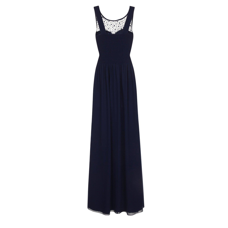 Little Mistress Womens/Ladies Chiffon Diamante Maxi Dress: Amazon.co.uk: Clothing