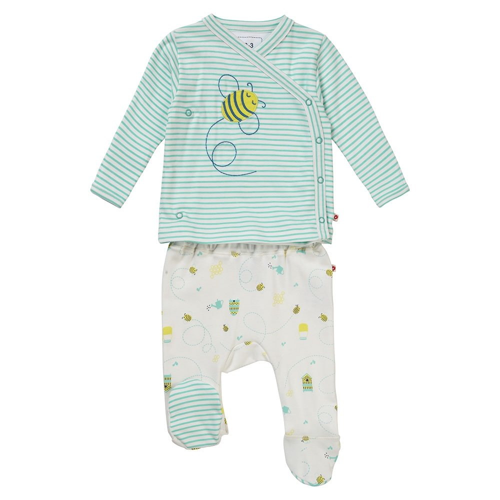 Piccalilly camiseta de manga larga y pantalón de tiro, jersey de algodón orgánico, unisex, bebé, abeja OC-1265