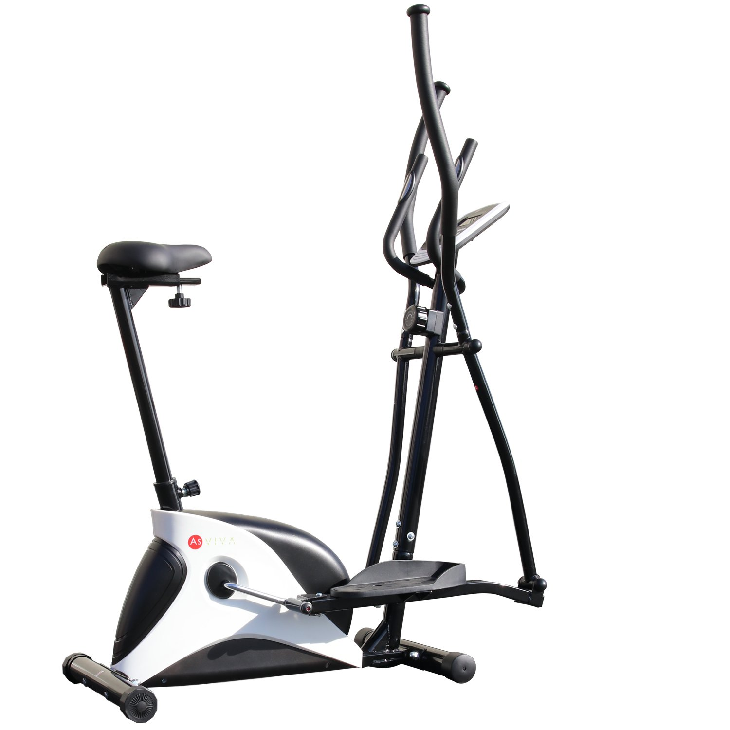AsVIVA 2 en 1 Cycle Cardio C16 Elliptical Cross Trainer, Negro, M: Amazon.es: Deportes y aire libre