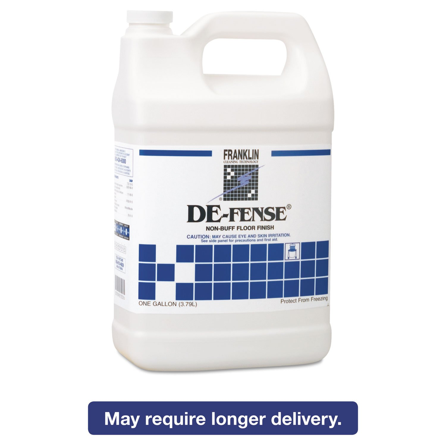 Franklin Cleaning Technology F135022 DE-FENSE Non-Buff Floor Finish, 1 Gallon (Pack of 4)
