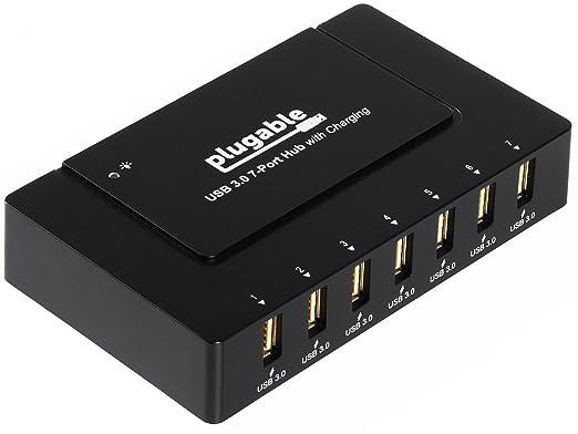 1 opinioni per Hub di caricamento Plugable da 7 porte USB 3.0 SuperSpeed con alimentatore da