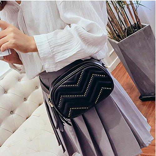 Leggeri Donne Crossbody Pelle Polivalente Cintura Bianco In Pinchu Stilista Nero Marsupio HqWw4XpnI