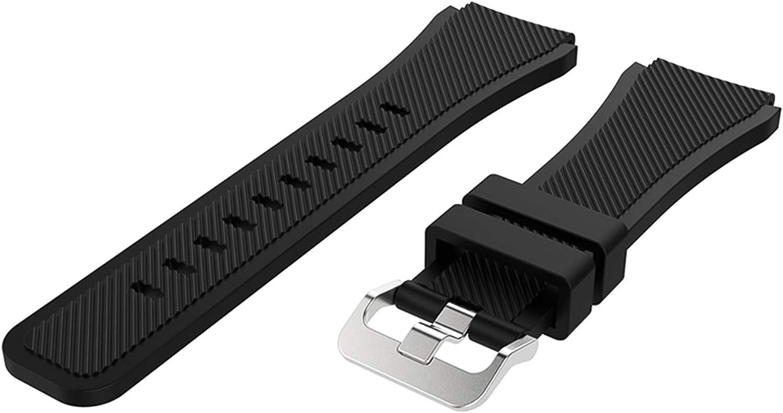 Malla de silicona para Galaxy Watch 3 45mm Negra