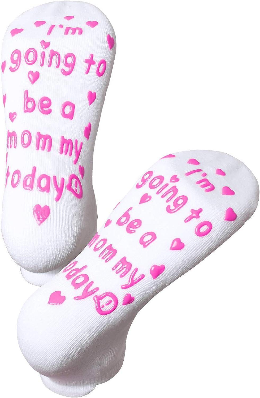 Maternity Labor and Delivery Socks Non Skid Birthing Socks Inspirational Fun Socks...