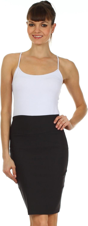 Sakkas High Waist Stretch Pencil Skirt with Rear Bow Accent