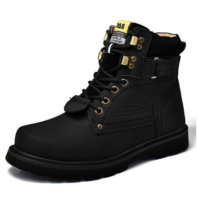 Botines De Tacón Bajo Para Hombre Zapatos De Martin Ocasionales Botas De Tobillo De Senderismo Para