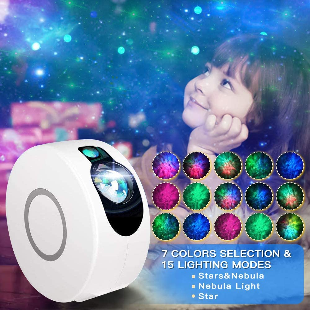Night Light Projector Game LED Star Projector with Remote Control Starry Night Projector with Galaxy and Nebula Cloud for Decoration 15 Lighting Modes Sky Projection Lamp for Kids and Adults Room