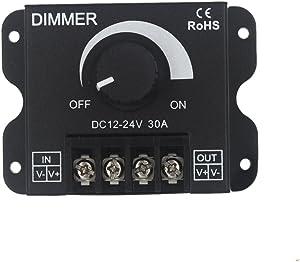 JOYLIT 12V 24V 30A LED Dimmer PWM Dimming Controller For LED Lights or LED Strip Lights