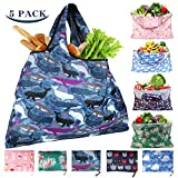 Reusable Shopping Bags Foldable Washable 55LBS XX-Large Grocery Bags...