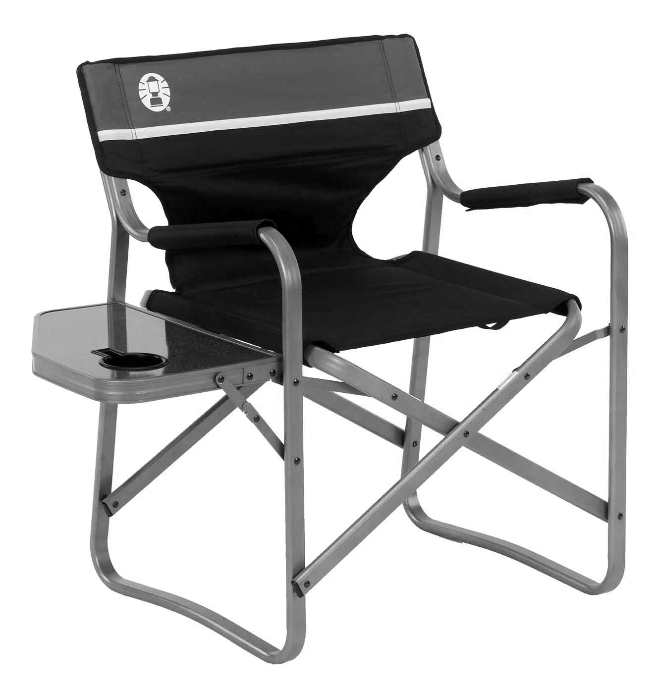 Coleman Camp Chair with Side Table | Folding Beach Chair | Portable Deck Chair for Tailgating, Camping & Outdoors by Coleman