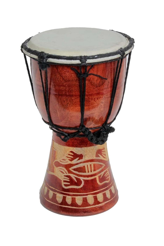 40cm Große Djembe Trommel Bongo Drum Gecko Holz A3 Ciffre