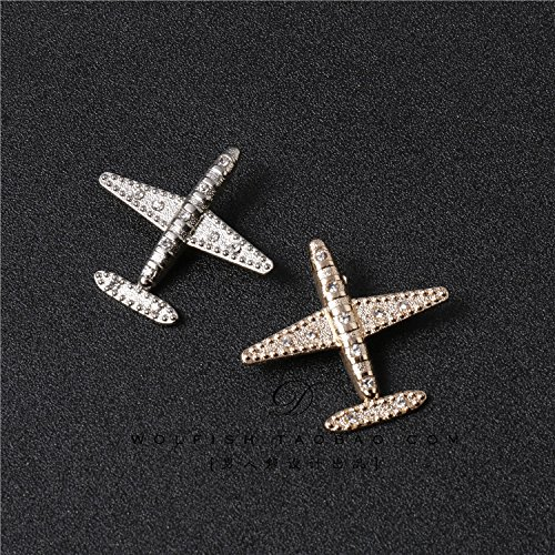 Personalized men's suit brooch pin small aircraft burst models fashion men's shirt collar flower pin hole patch bags