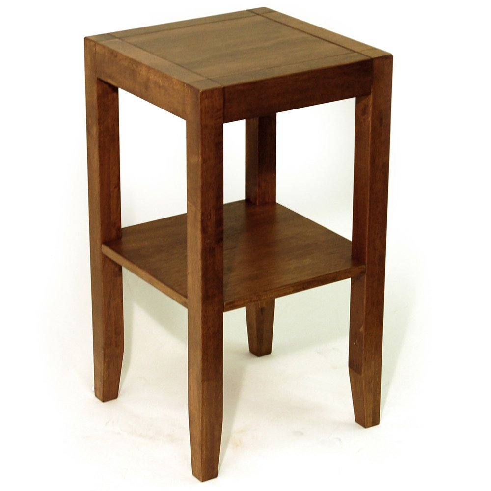 Simple Wooden Side Tables ~ Solid wood end telephone bedside side table walnut wooden