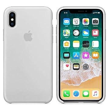 Funda Apple para iPhone 6 iPhone 6s carcasa protectora con logo original silicona suave gel protector ultrafino textura antideslizante protección ...