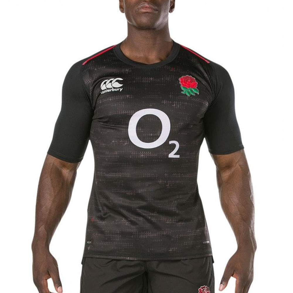 (S, Pro Fit - Short Sleeve) - Canterbury Men's Official England 18/19 Rugby Away Jersey B07D2F8M5S